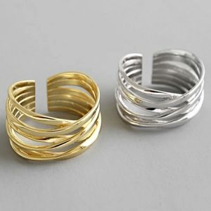 NEW SILVER / GOLD PLATED BOHO STACKED WIRE RING